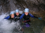 Canyoning Gruppe im Lechtal