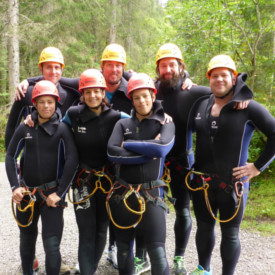 Gruppenfoto vom Canyoning