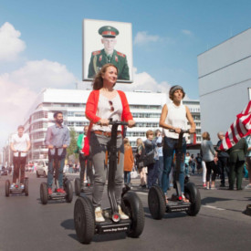Segway Gruppe am Checkpoint Charlie