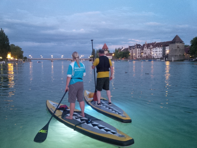 SUP Night Tour in Walheim auf dem Neckar