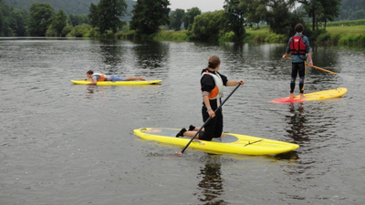 Anfänger-Kurs im SUP (Stand Up Paddling) in Bayern