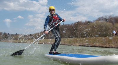 Stand Up Paddling Anfänger Isar bei München