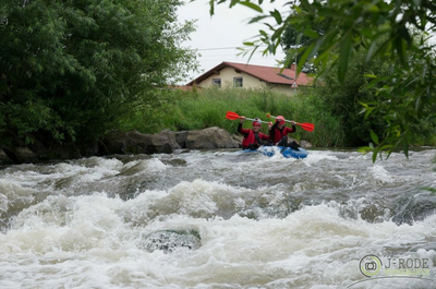 River Tubing, Rafting im Ultra-Mini-Raft im Harz