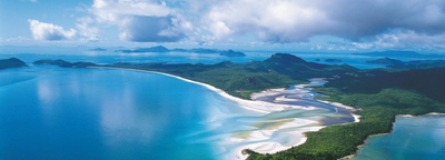 Segeln am Whitehaven Beach in Australien