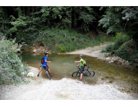 Mountainbike-Tour am Fluss Kupa in Kroatien