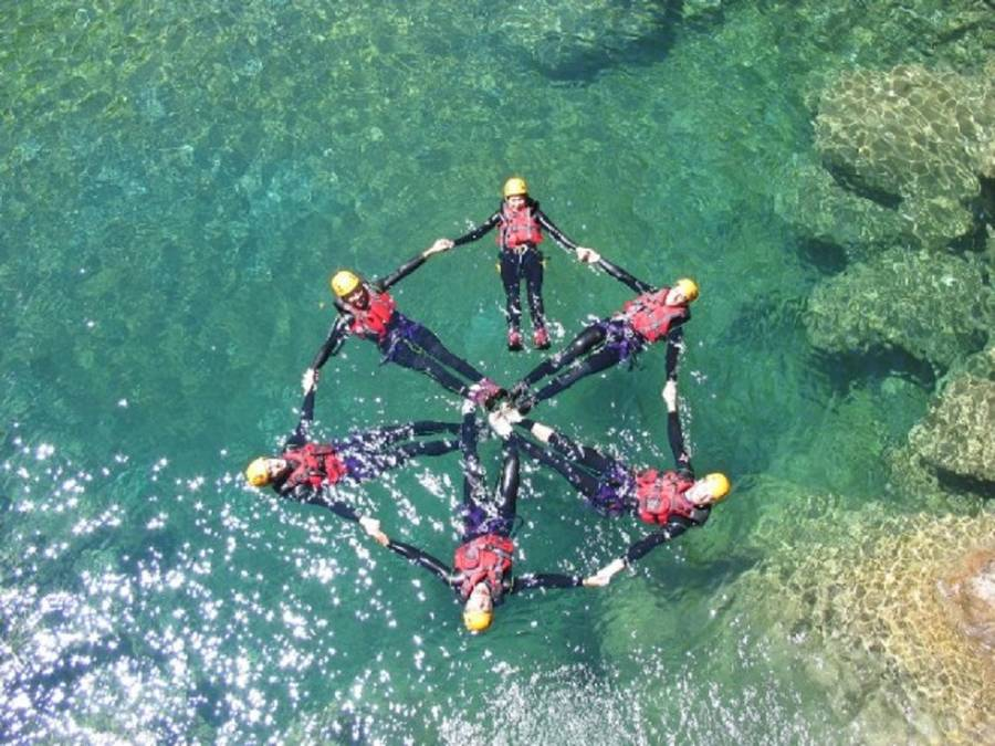 Canyoning im Palvico bei Arco am Gardasee, Italien