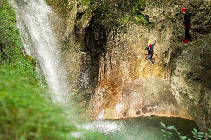 Canyoning am Gardasee - Rio Nero bei Arco, Italien