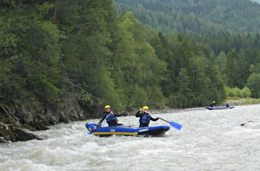 Halbtages Rafting Tour im Tiroler Lechtal