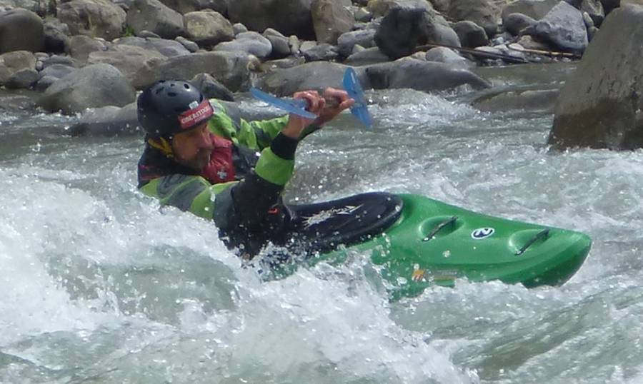 Kajak-Training beim Wildwasser-Camp in Lienz