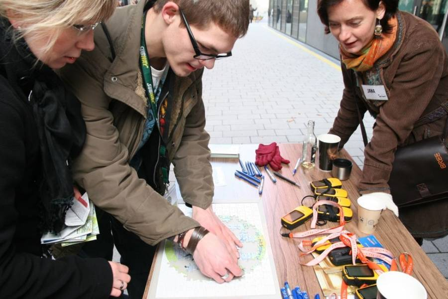 Geocaching Tour in Leipzig