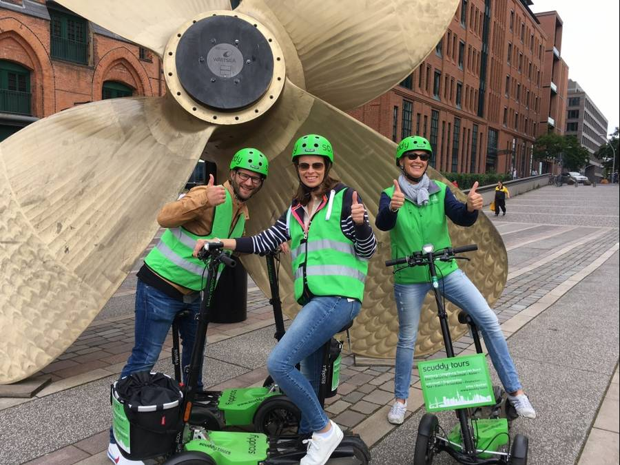 Sightseeing mit E-Roller / Scuddy durch Hamburg
