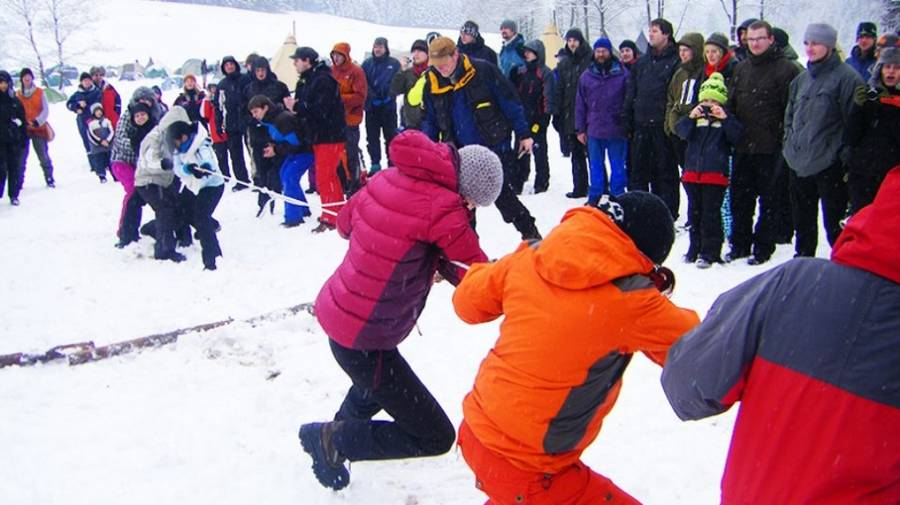 Winter-Olympiade als Teamevent in Bayern
