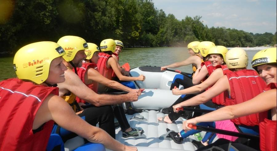 Rafting Tour auf der Isar in Lenggries