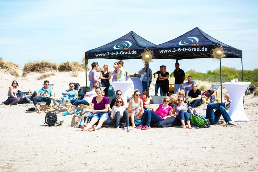Strandsegeln in Holland als JGA oder Firmenevent