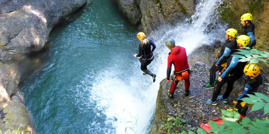 JGA Canyoning Tour Level 2 & riesen BBQ