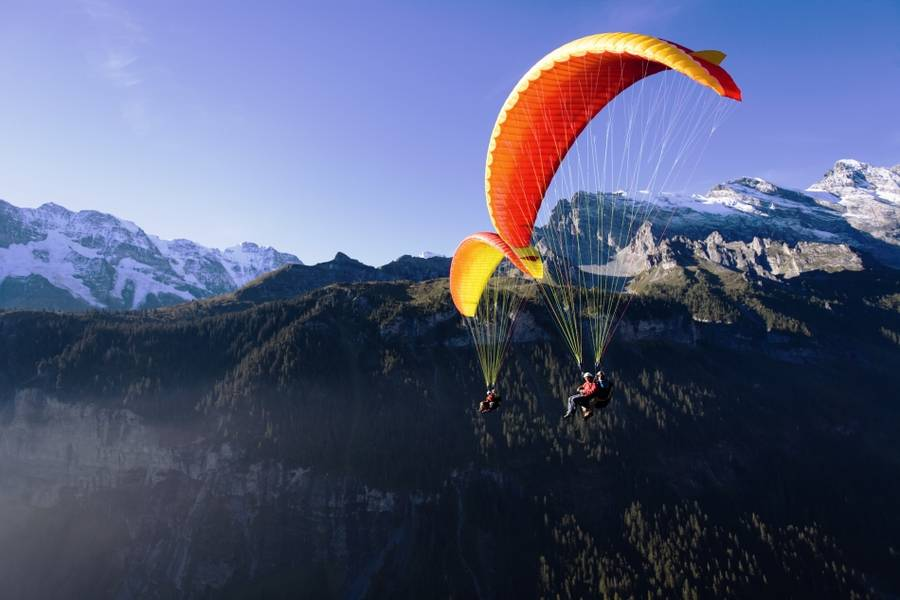 Paragliding Big Blue in Interlaken