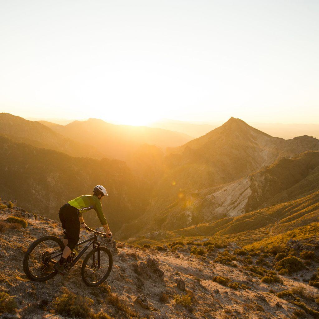 Mountainbike-Fahrer auf Mallorca