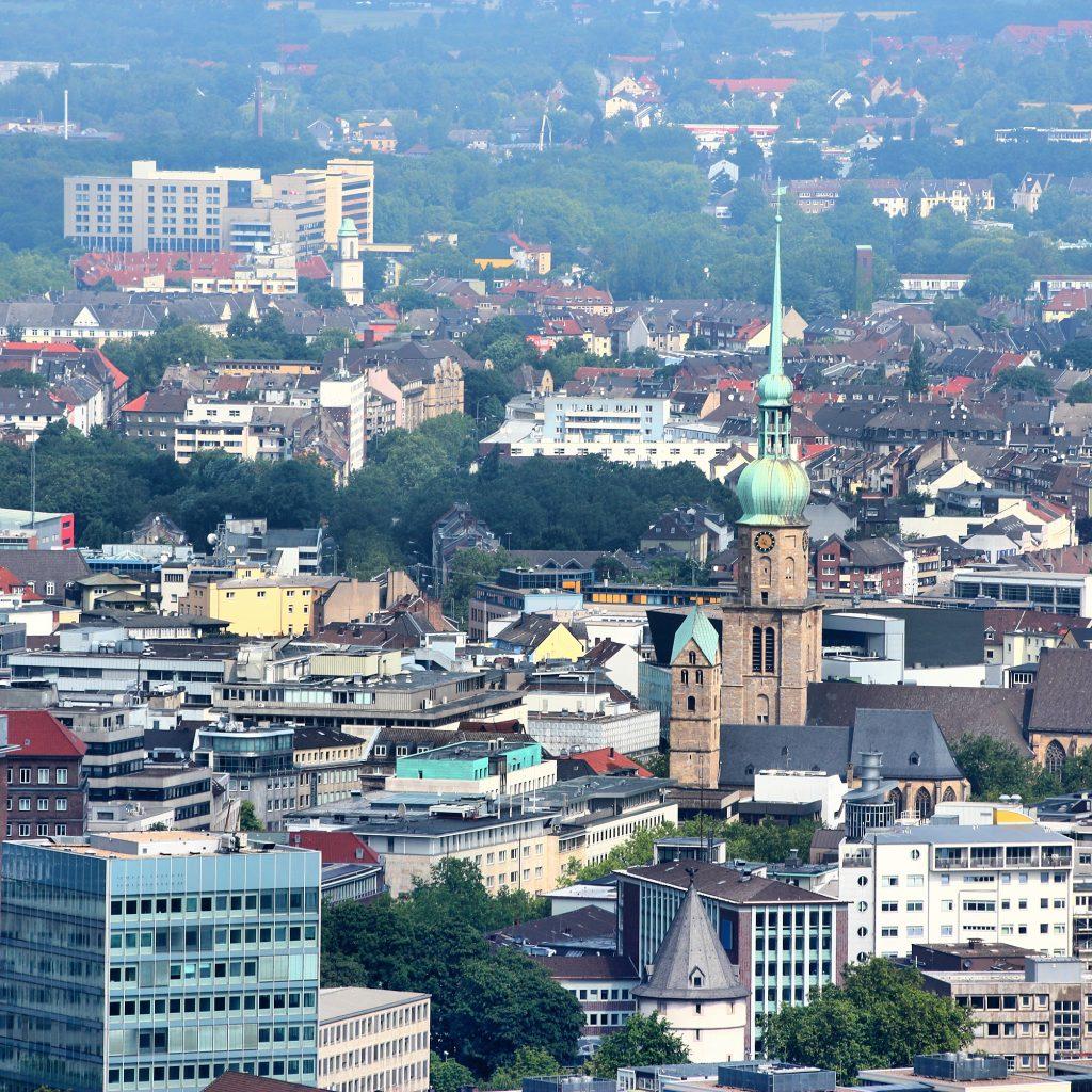 Luftbild Innenstadt Dortmund