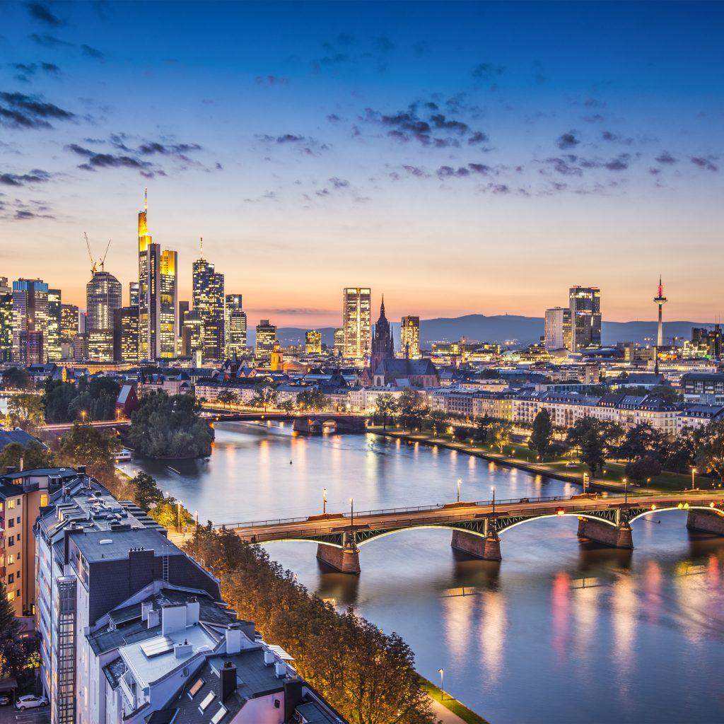 Frankfurt im Abendrot