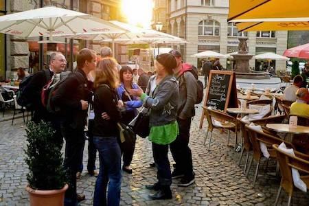 Teilnehmer der Kneipentour in Leipzig