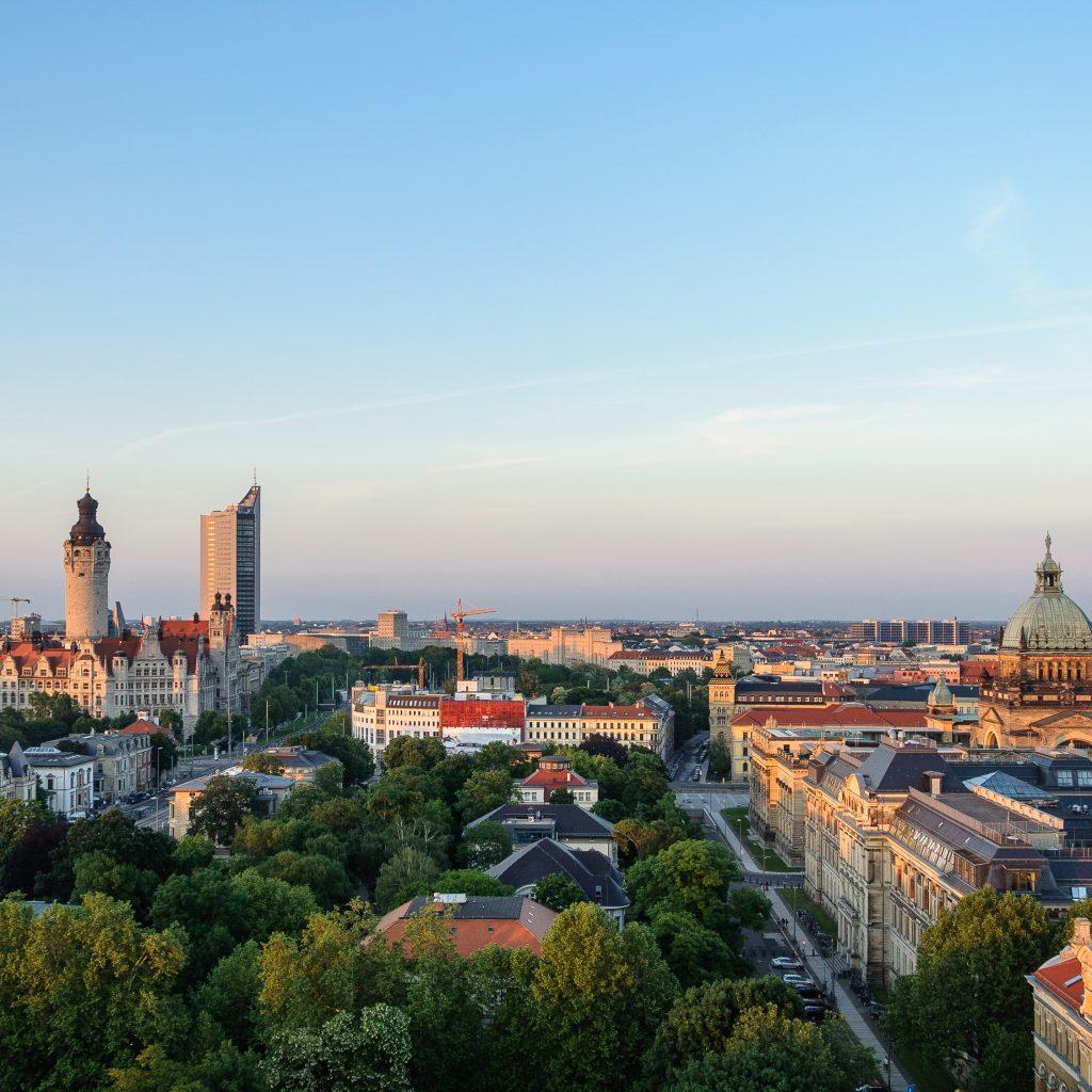 Das abendliche Leipzig