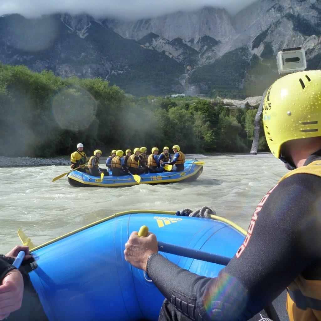 Die Gründer von Guiders beim Rafting