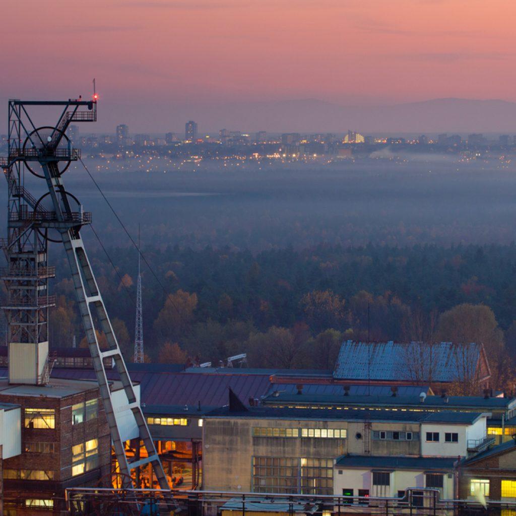 Blick auf eine Zeche im Ruhrgebiet