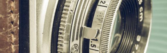 Detail einer alten Kamera