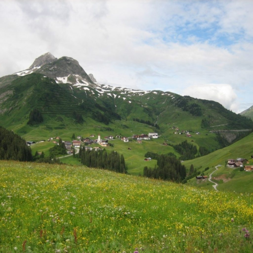 Sommerliche Berglandschaft in Österreich