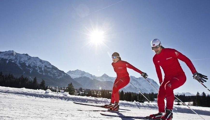 Zwei Skilangläufer