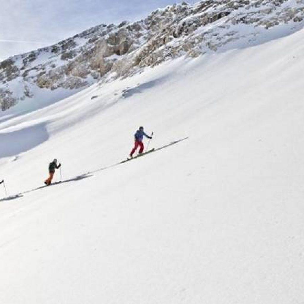 Zwei Skitourengeher