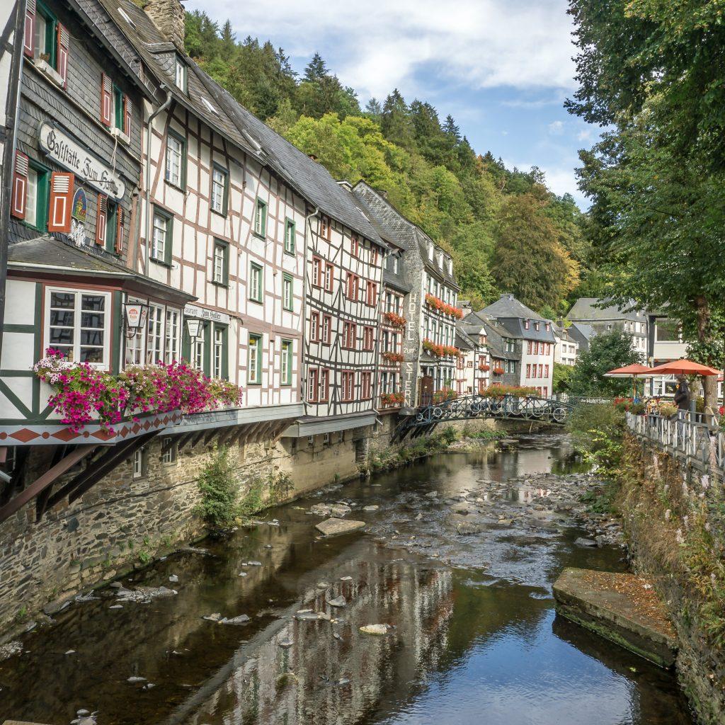 Fachwerkhäuser in Monschau in der Eifel