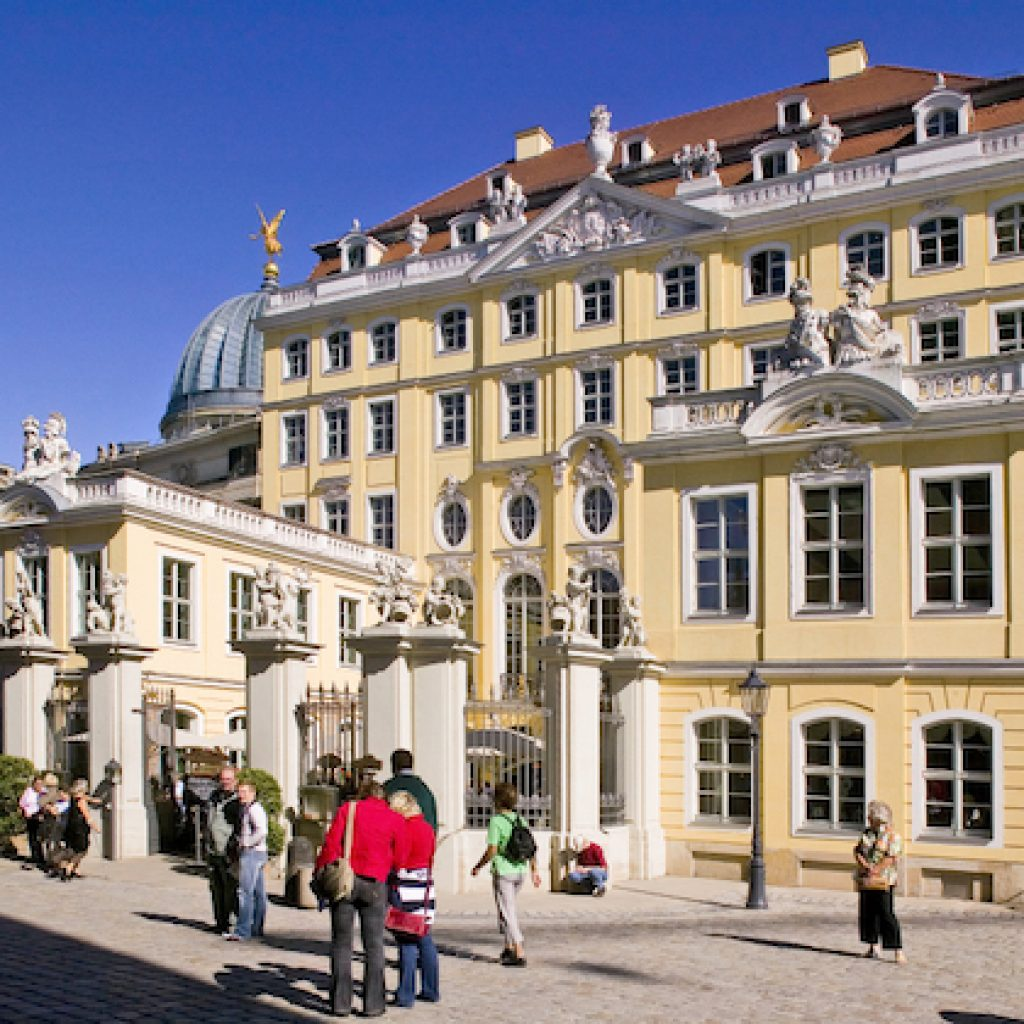 Teilnehmer der Schnitzeljagd in Dresden