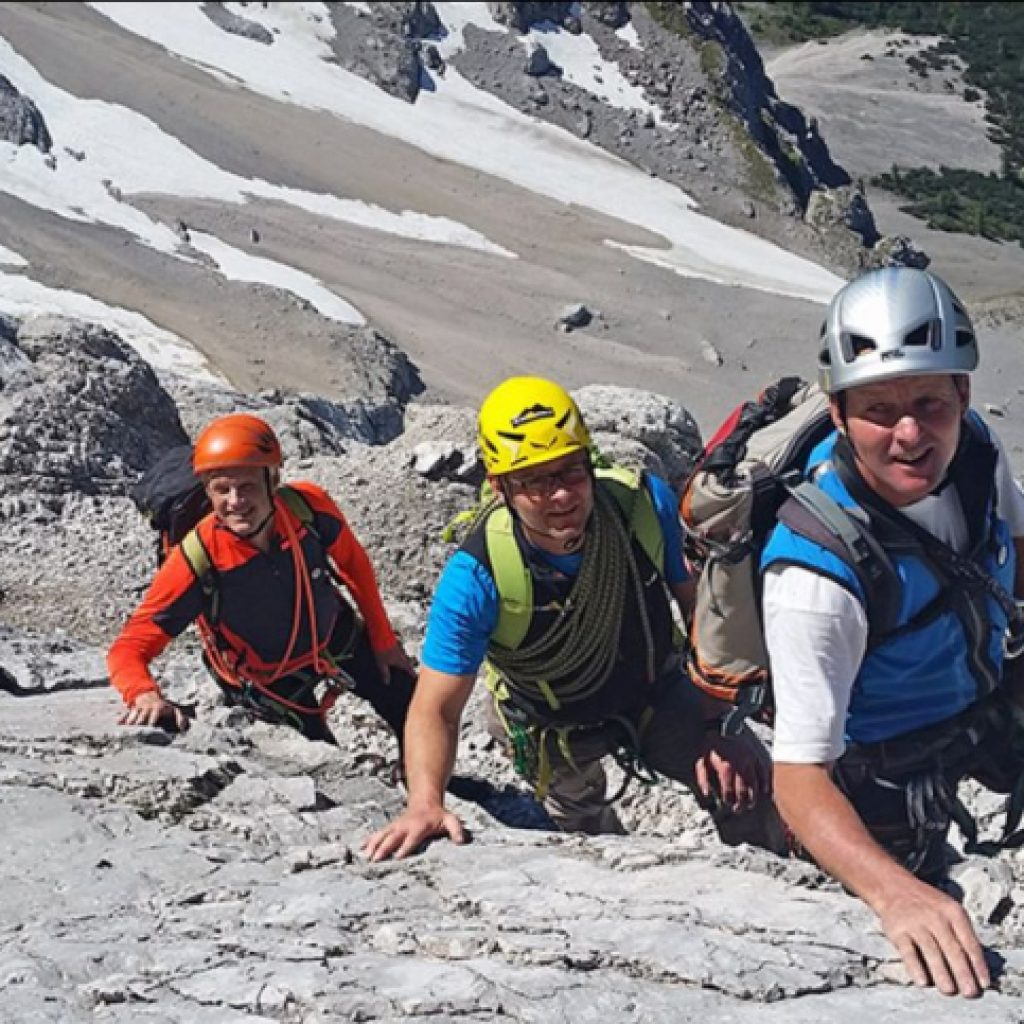 Gruppe Bergsteiger