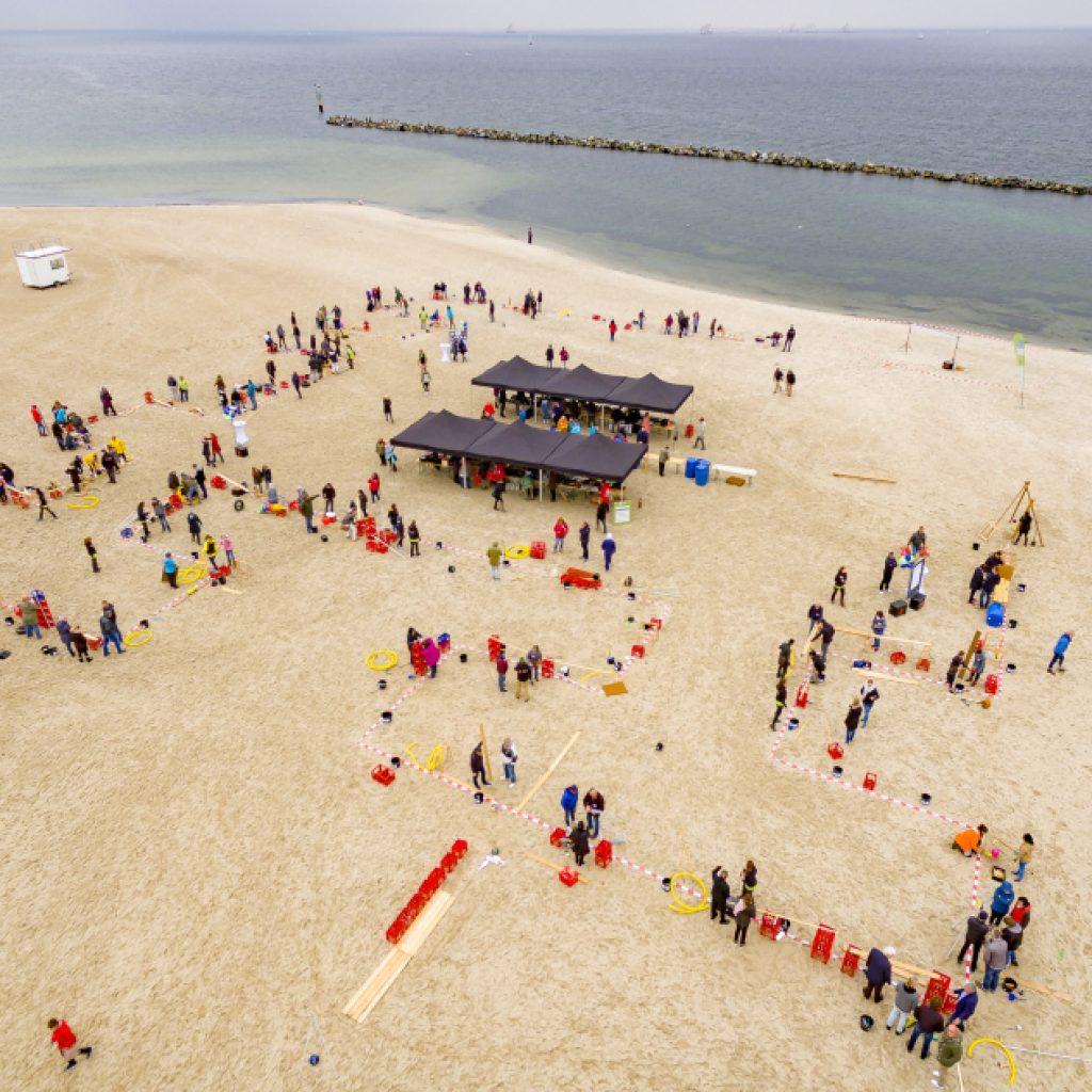 Impulskette am Strand