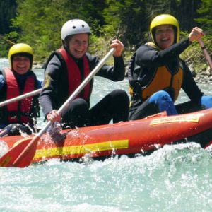 Rafting Boot mit Raftern