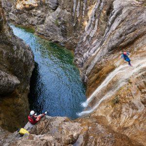 Canyoning in der Auerklamm